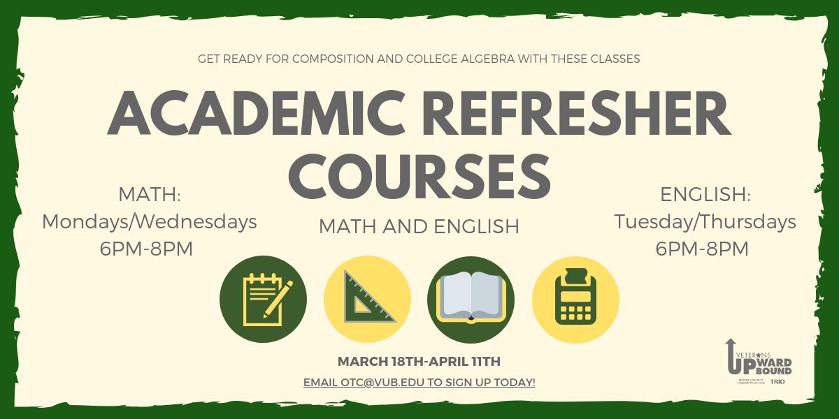 Academic Refresher Courses