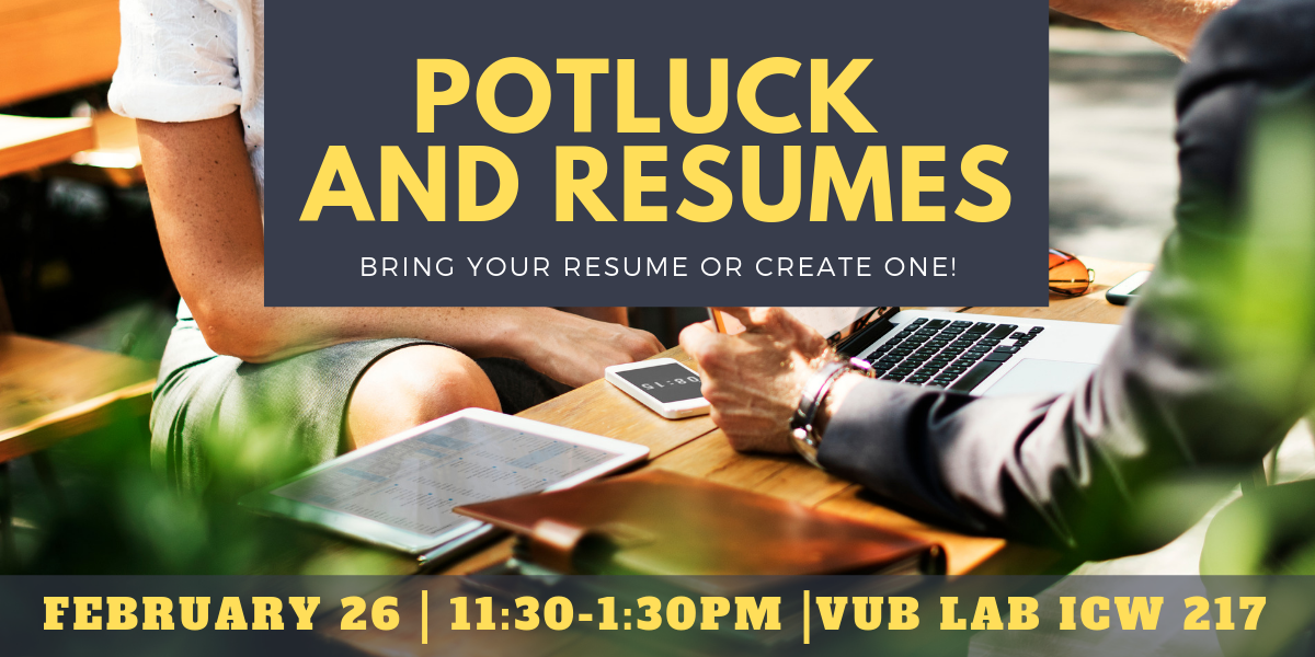 Resume Potluck And Games
