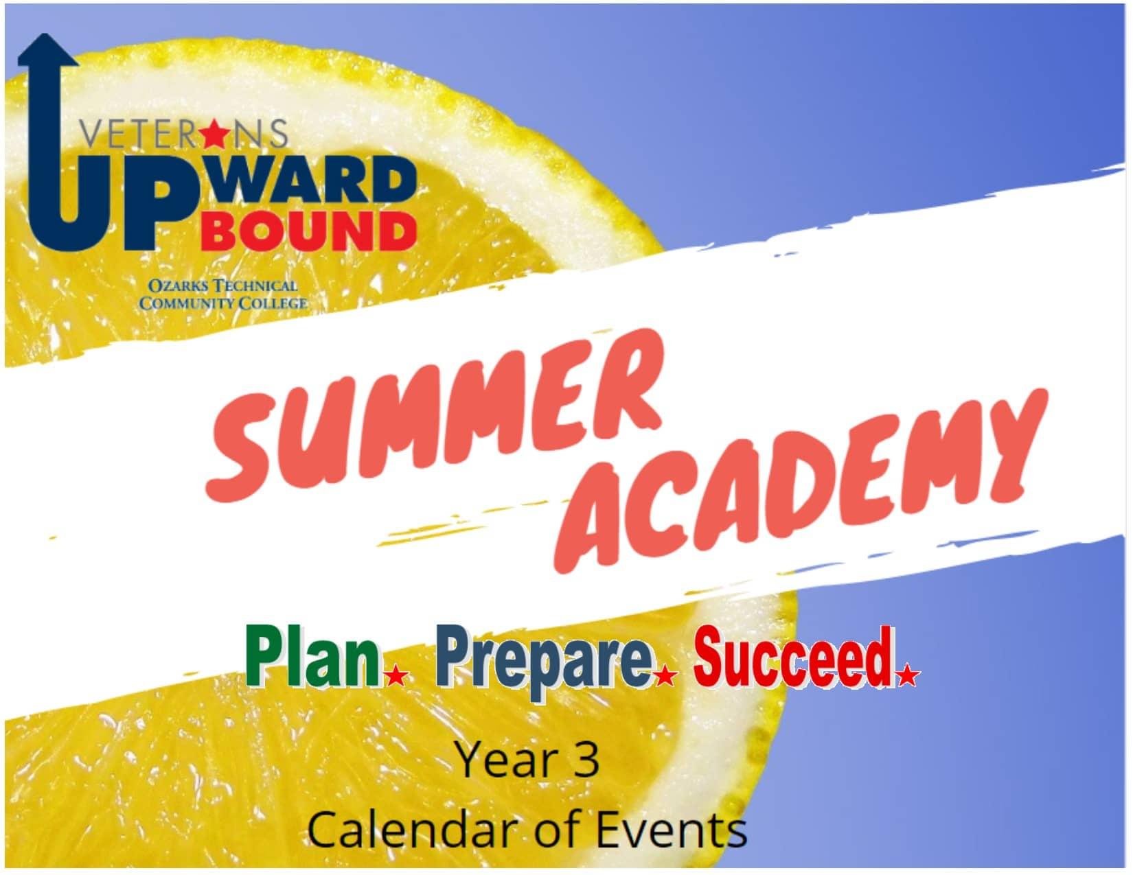 Summer Academy Year 3 Schedule
